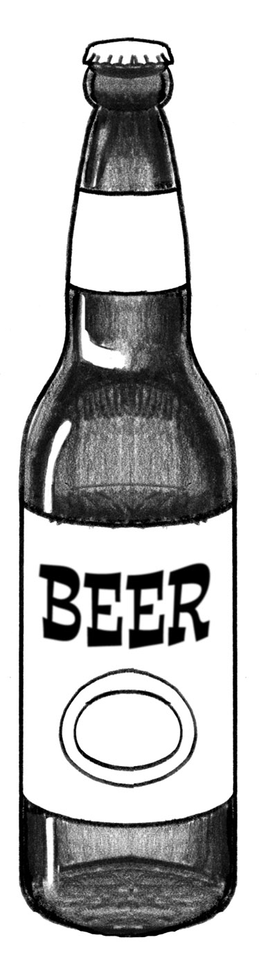 How to draw beer bottle